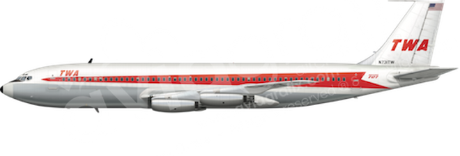 TWA - Boeing 707-131 L1 any5combo