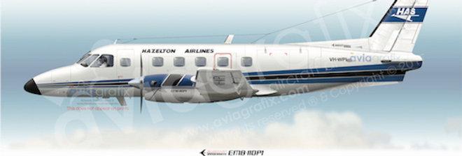 Hazelton Airlines - Embraer EMB-110P1 VH-WPI - 1983 Livery