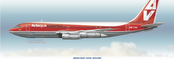 AVIANCA - Boeing 720-059B HK-724 - 1976 Livery