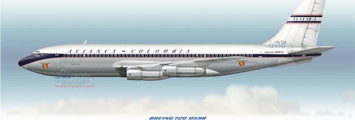 AVIANCA - Boeing 720-059B HK-724 - 1961 Livery