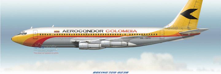 Aerocondor - Boeing 720-023B HK-1973 - 1979 livery