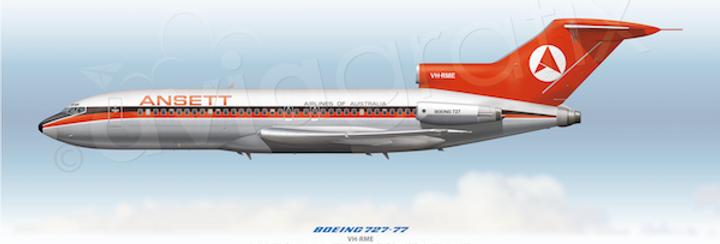 Ansett Airlines - Boeing 727-77 VH-RME - 1970 Livery