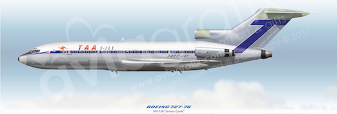 TAA - Boeing 727-76 VH-TJA - 1967 Silver Livery