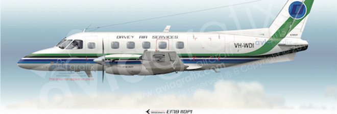 Davey Air Services - Embraer EMB-110P1 VH-WDI