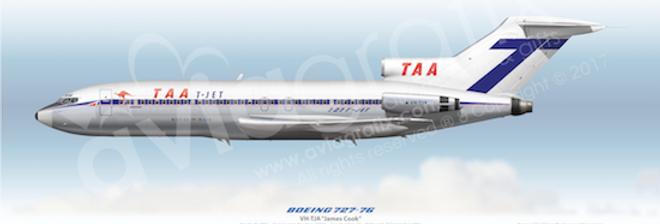 TAA - Boeing 727-76 VH-TJA - 1967 Livery