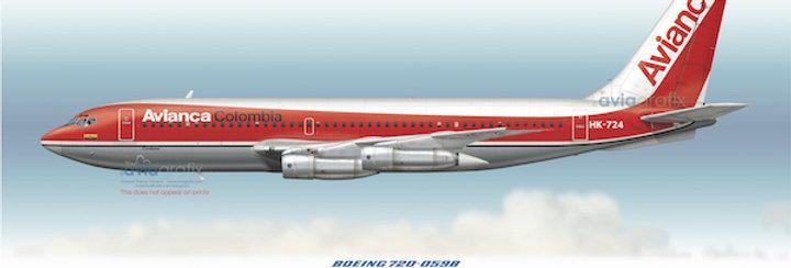 AVIANCA - Boeing 720-059B HK-724 - 1979 Livery