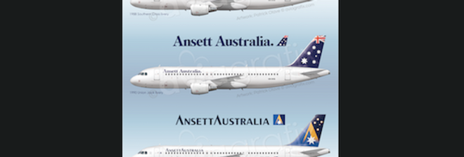 Ansett Airlines - Airbus A320-211 VH-HYA - 3 Liveries
