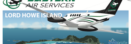 Eastern Air Services - Beechcraft King Air 200 - Lord Howe Island - DL Postcard