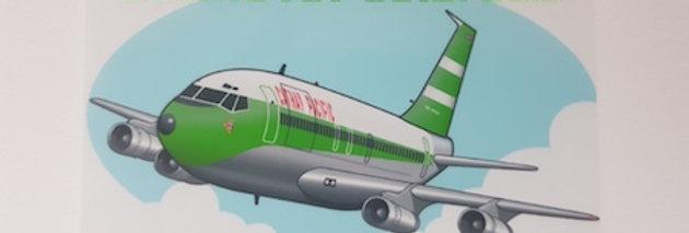 Cathay Pacific - Boeing 707-300B/C - Cartoon Sticker