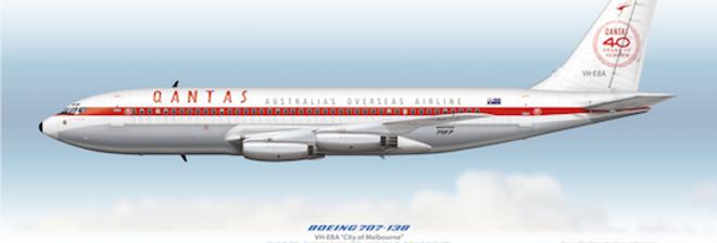 QANTAS - Boeing 707-138 VH-EBA - 1960 40th Anniversary Livery
