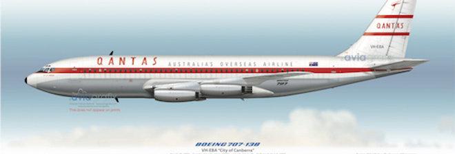 QANTAS - Boeing 707-138 VH-EBA - 1959 City of Canberra Livery