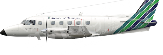 Airlines of Tasmania - Embraer EMB110P1 - any5combo