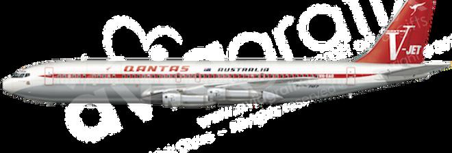 QANTAS - Boeing 707-338C - L7 any5combo