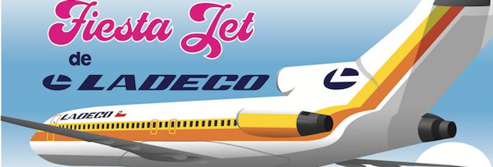 LADECO - Boeing 727-100 - Fiesta Jet - DL Postcard