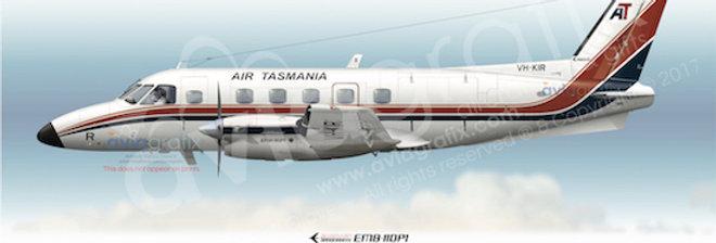 Air Tasmania - Embraer EMB-110P1 VH-KIR - 1981 Livery