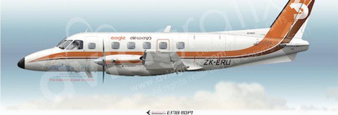 Eagle Airways - Embraer EMB-110P1 ZK-ERU - 1980 Livery
