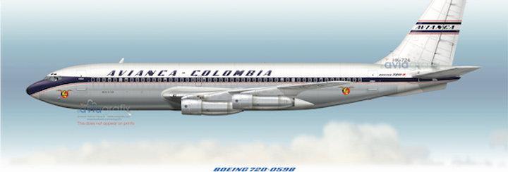 AVIANCA - Boeing 720-059B HK-724 - 1968 Livery