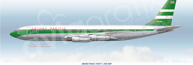 Cathay Pacific - Boeing 707-351B VR-HGH