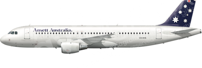 Ansett Australia - Airbus A320-211 - L4 any5combo
