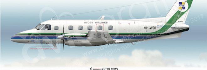 AVDEV Airlines - Embraer EMB-110P1 VH-WDI