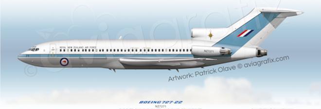 RNZAF - Boeing 727-22C NZ7271 - 1995 Livery