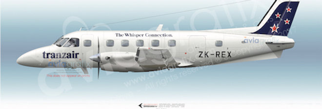 Tranzair - Embraer EMB-110P2 ZK-REX - 1990 Livery