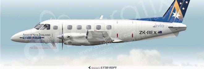 Ansett New Zealand Regional - Embraer EMB-110P1 ZK-REX