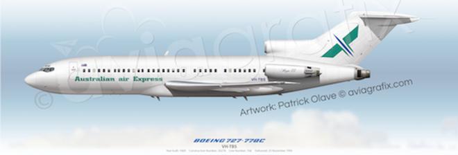 Australian Air Express - Boeing 727-77QC VH-TBS
