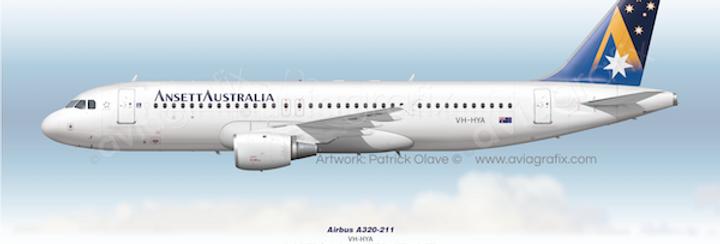 Ansett Australia - Airbus A320-211 VH-HYA - 1994 Livery
