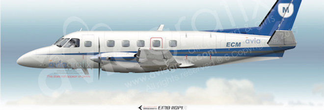 EC Menzies Aviation - Embraer EMB-110P1A ZK-ECM