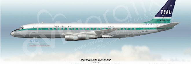 TEAL - Douglas DC-8-52 ZK-NZA - 1965 Livery