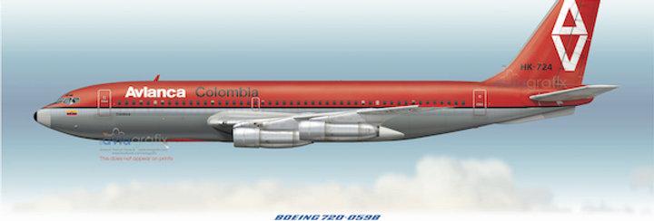 AVIANCA - Boeing 720-059B HK-724 - 1970 Livery