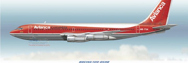 AVIANCA - Boeing 720-059B HK-724 - 1977 Livery