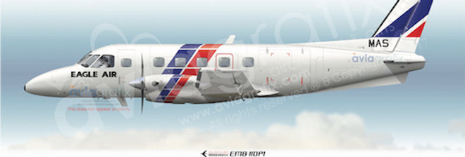 Eagle Airways - Embraer EMB-110P1 ZK-NAS - 1986 Livery
