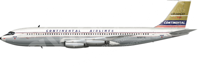 Continental Airlines - Boeing 707-124 L1 any5combo