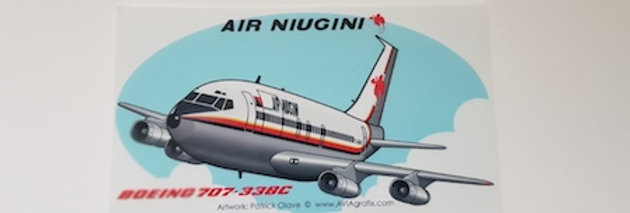 Air Niugini - Boeing 707-300C - Cartoon Sticker
