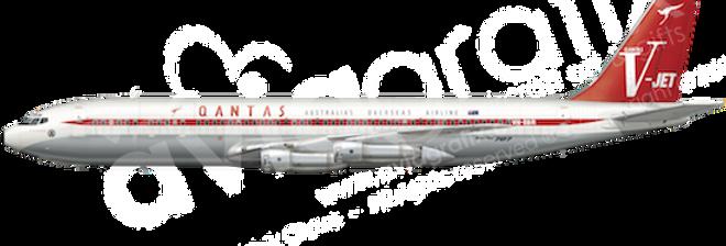 QANTAS - Boeing 707-338C - L5 any5combo