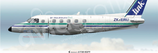 Air New Zealand Link - Embraer EMB-110P1 ZK-ERU - 1991 Livery