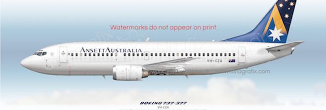 Ansett Australia - Boeing 737-377 VH-CZA - 1994 Livery