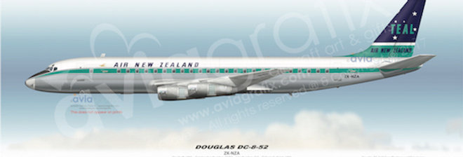 Air New Zealand - Douglas DC-8-52 ZK-NZA - 1965 Livery