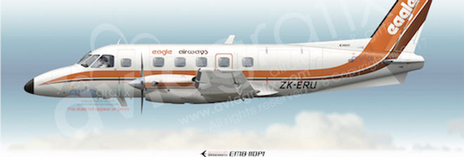 Eagle Airways - Embraer EMB-110P1 ZK-ERU - 1983 Livery