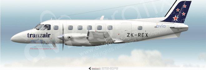 Tranzair (Rex Aviation) - Embraer EMB-110P2 ZK-REX - 1989 Livery