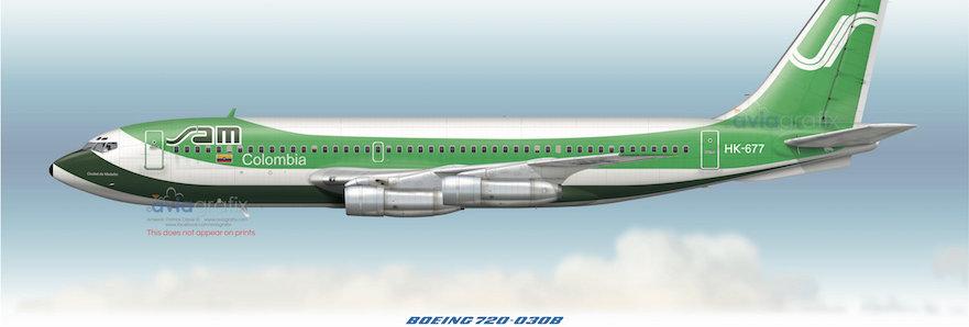 SAM - Boeing 720-030B HK-677