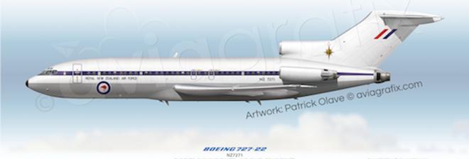 RNZAF - Boeing 727-22C NZ7271 - 1981 Livery