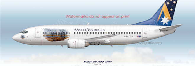 Ansett Australia - Boeing 737-377 VH-CZA - Waltzing Matilda