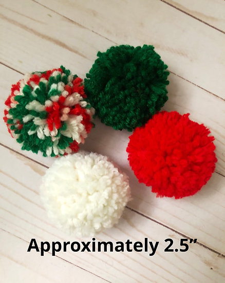 Traditional Christmas Pom Poms
