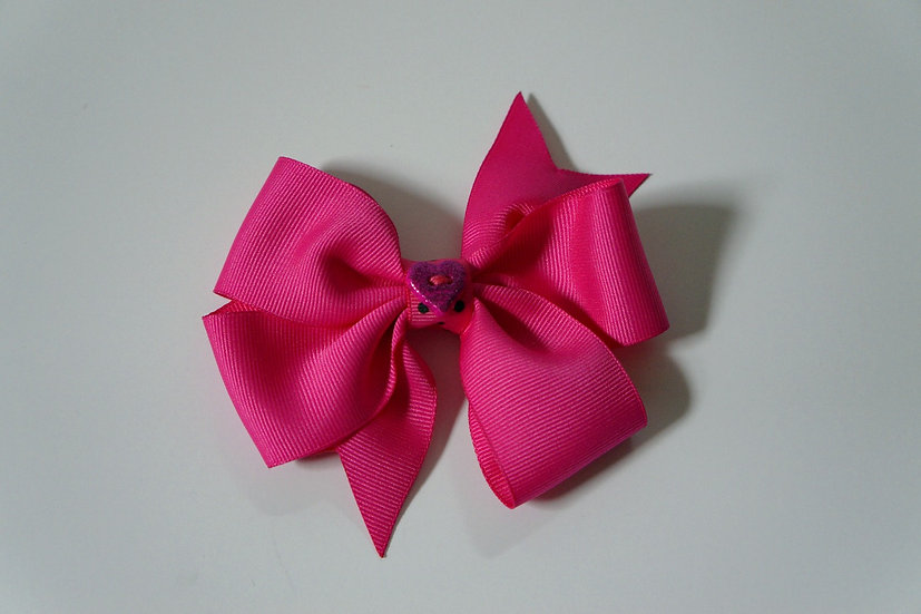 Hot Pink Heart Bow