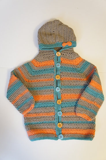 Girl's Spring Cardigan With Hood