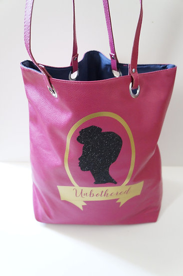 """Fuchsia """"Unbothered"""" Tote Bag"""