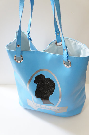 "Cerulean ""Unbothered"" Tote Bag"